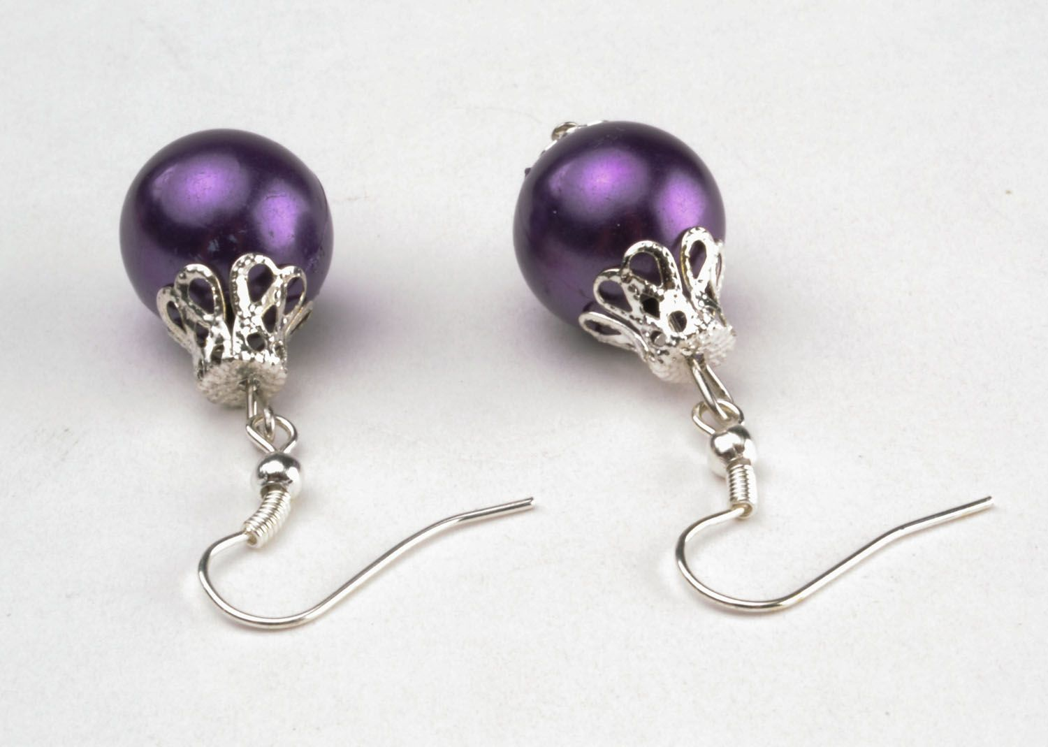 Earrings in the shape of Christmas tree balls photo 2