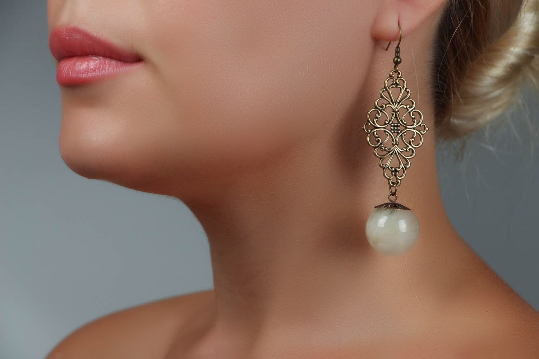 Long Earrings with Dandelions photo 4