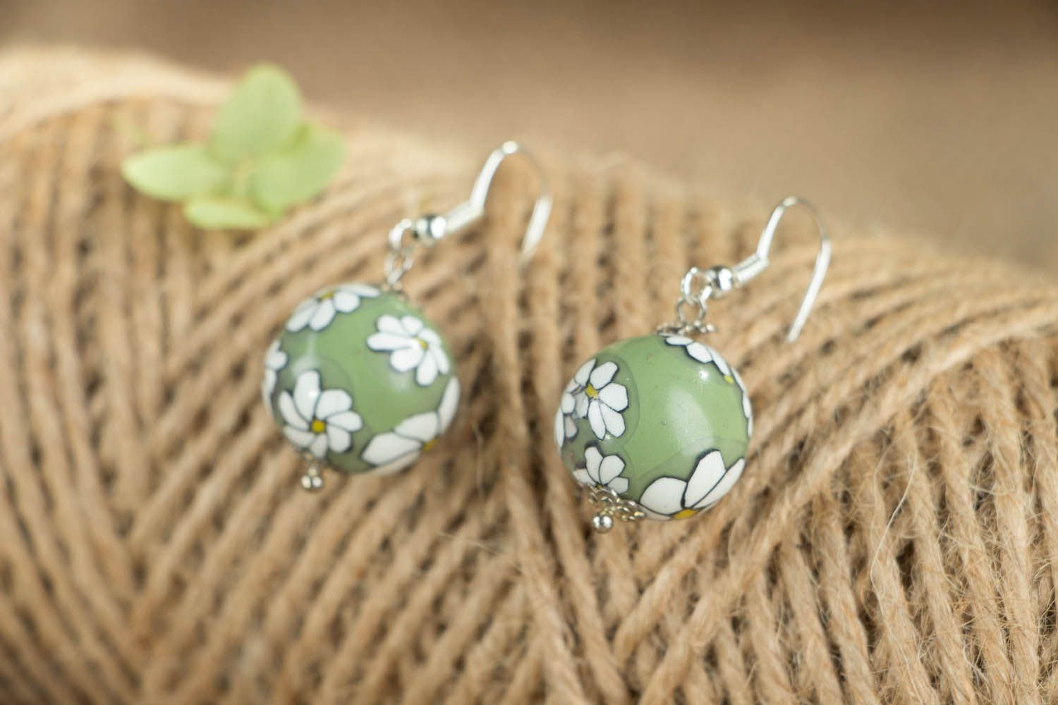 Designer polymer clay earrings  photo 3