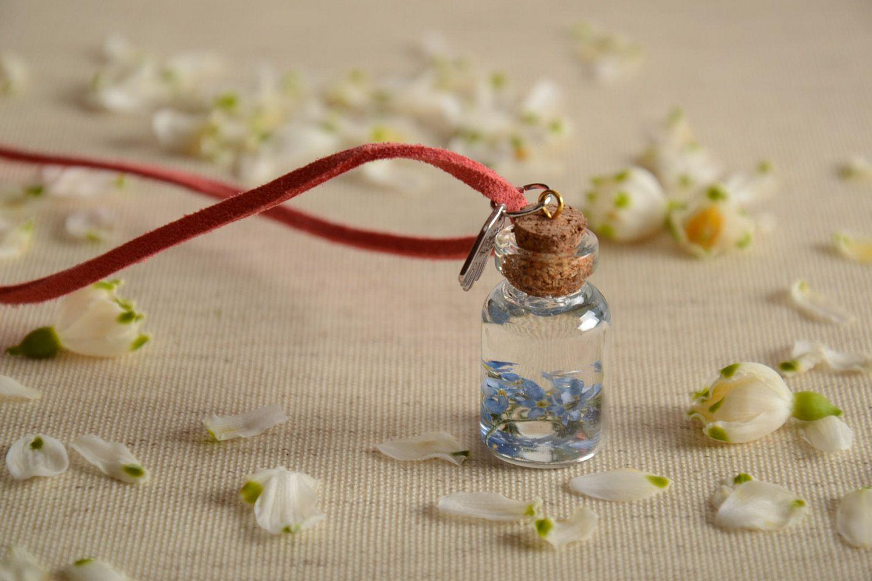 Madeheart homemade epoxy resin botanical pendant with cord vial resin jewelry homemade epoxy resin botanical pendant with cord vial with flowers inside madeheart aloadofball Gallery