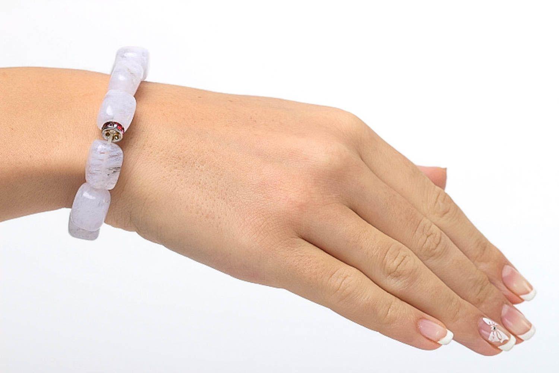 Quartz bracelet handmade woven bracelet fashion jewelry with natural stones photo 5