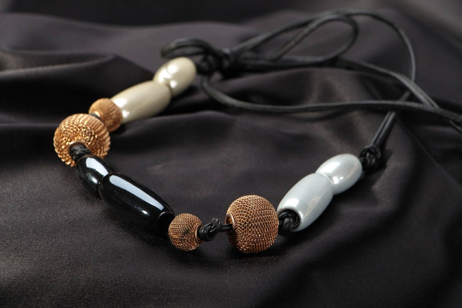 Necklace on leather cord photo 2