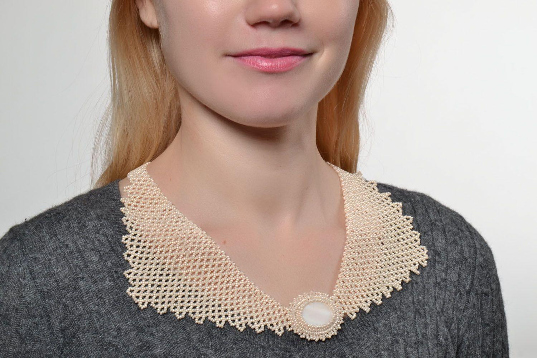 Unusual handmade necklace photo 5