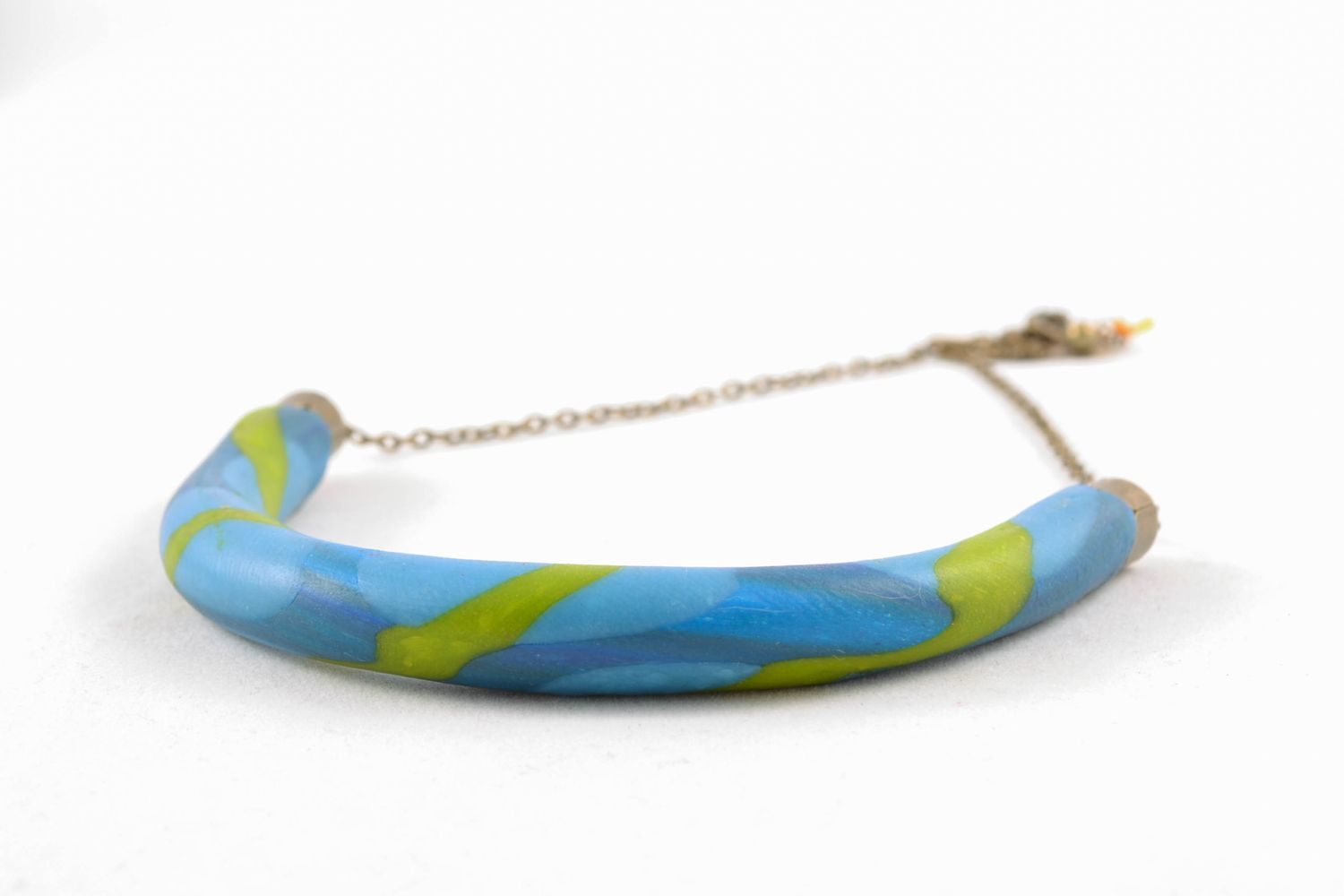Unusual polymer clay necklace photo 5