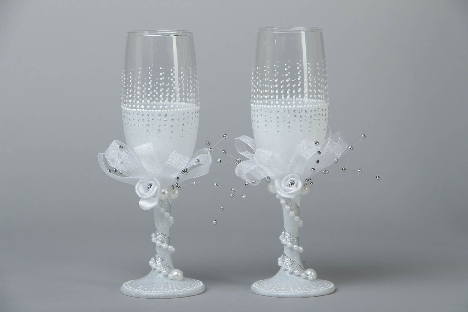 Wedding glasses for groom and bride photo 1