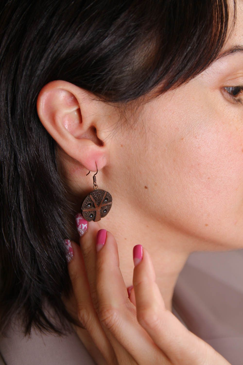 Ceramic jewelry handmade earrings gifts for women fashion accessories photo 5
