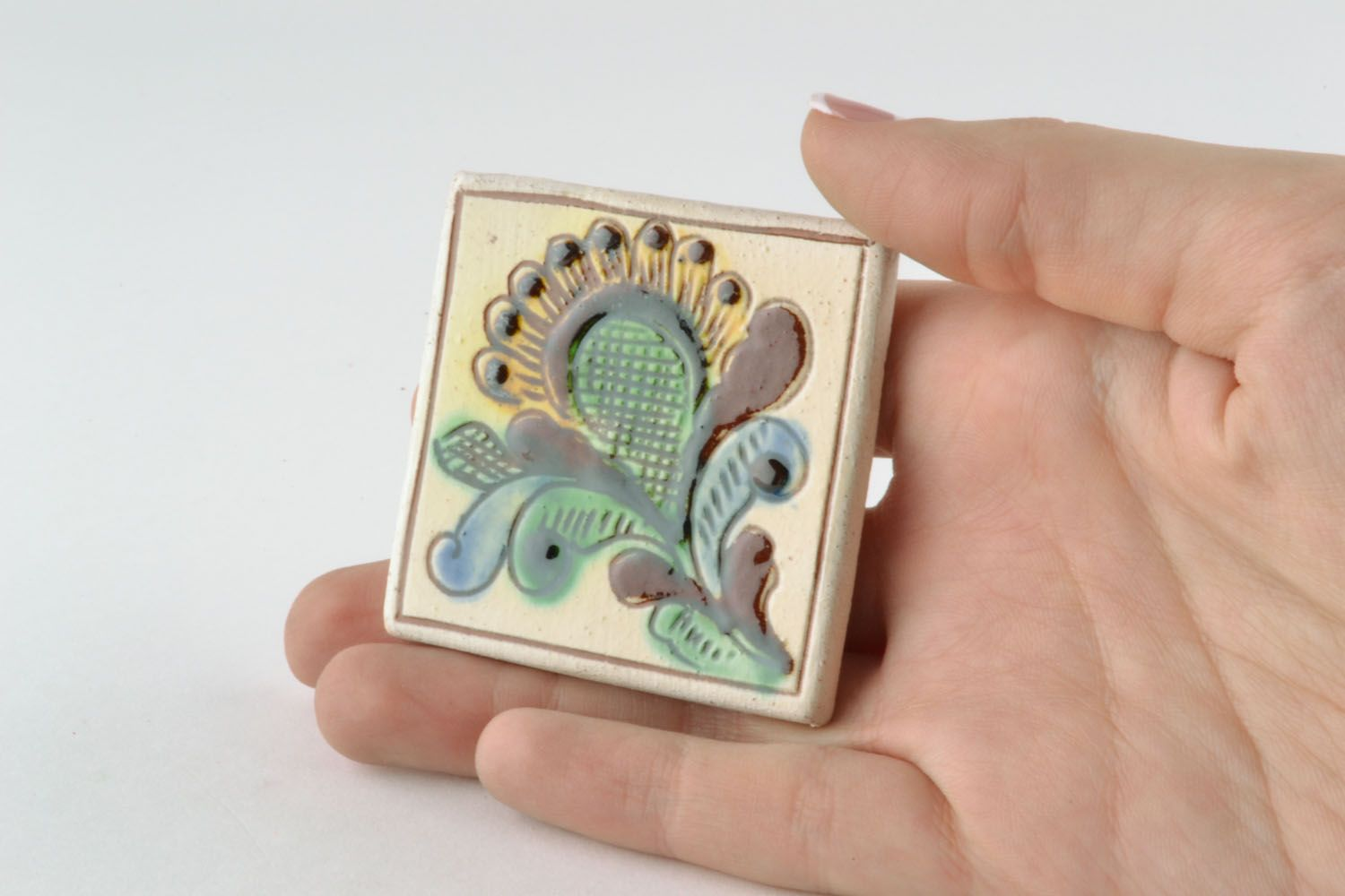 Ceramic fridge magnet photo 2