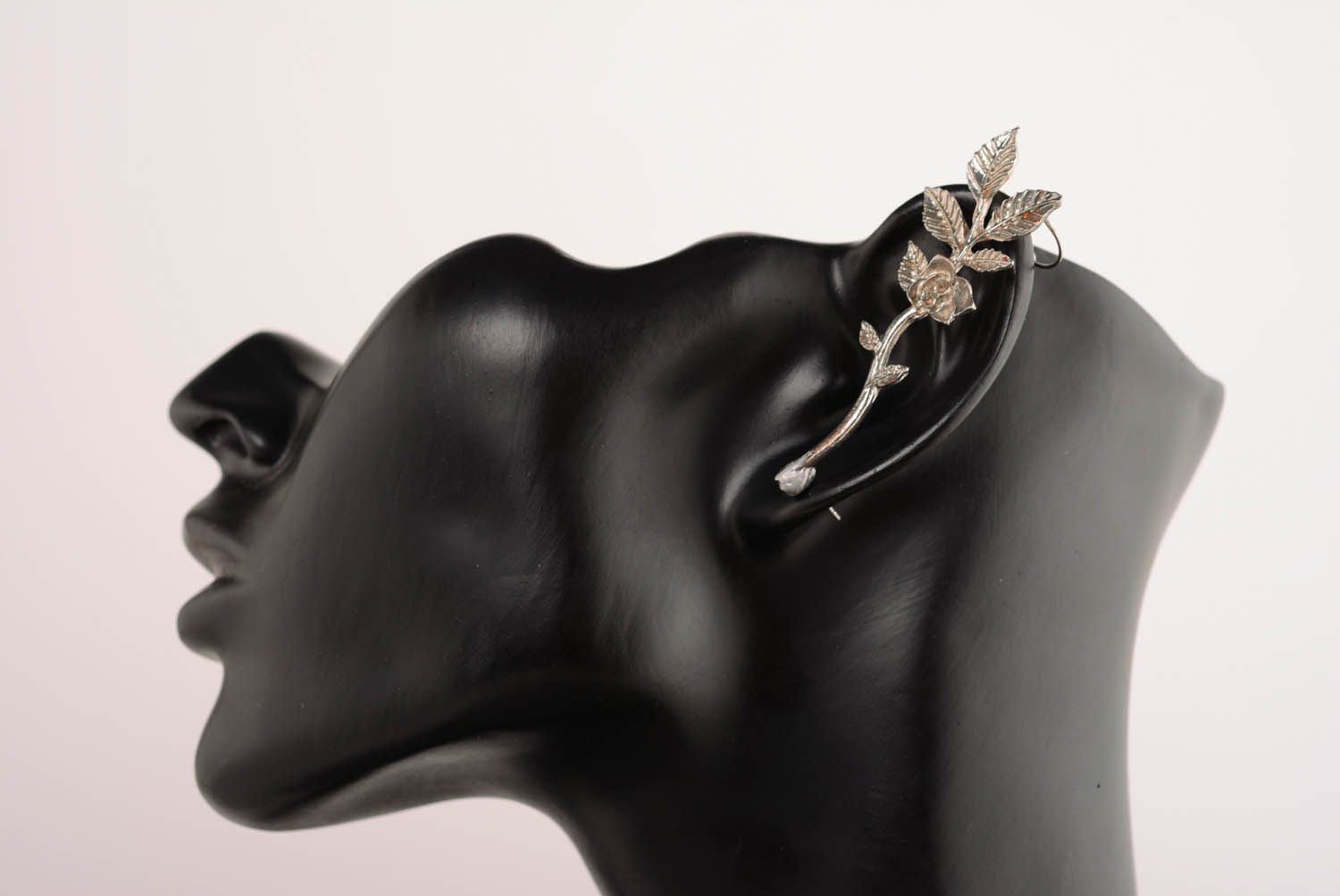 Designer's cuff earring Flower Pot photo 1