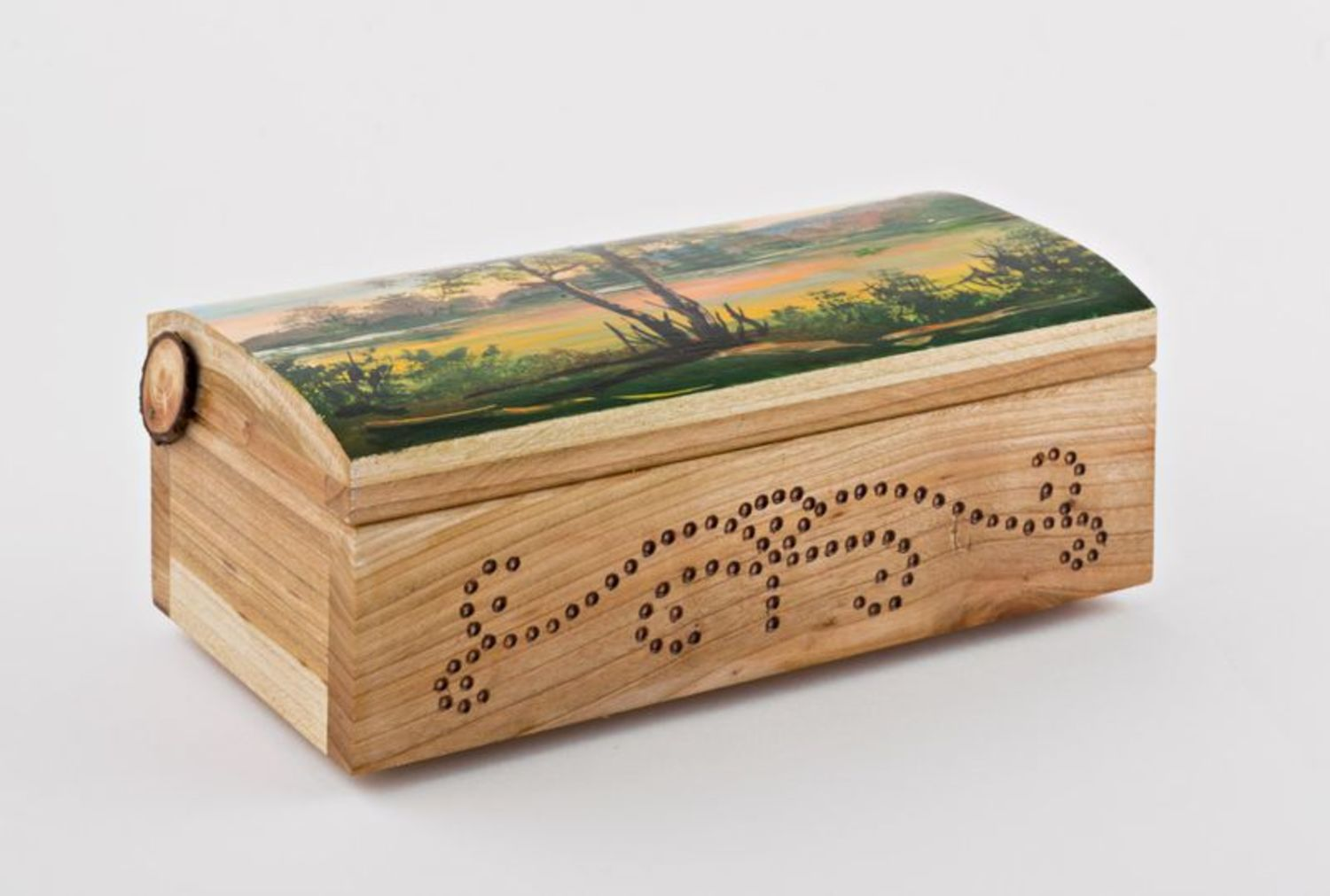 boxes Wooden box with pattern - MADEheart.com