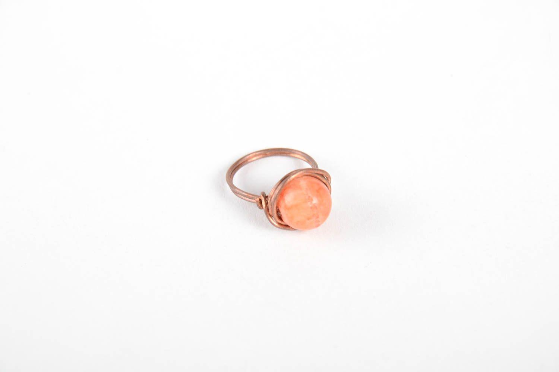 Handmade copper designer ring unusual beautiful ring stylish jewelry for women photo 5