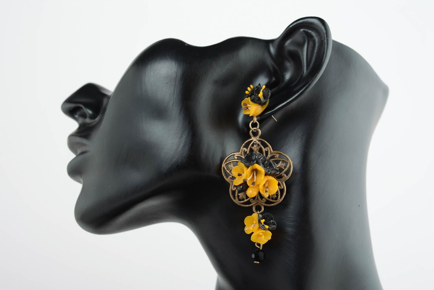 Cuff earring with charms Openwork photo 1