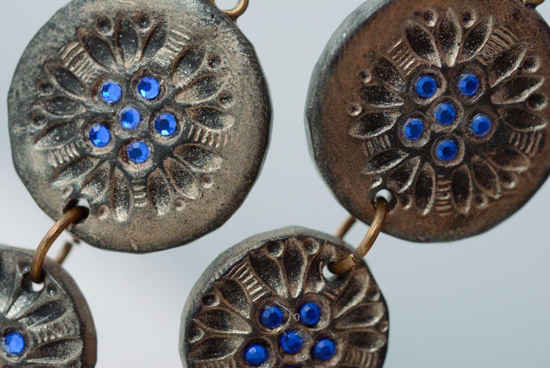 Fashionable polymer clay earrings photo 3