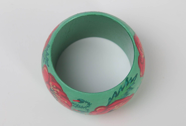 Painted wooden bracelet wrist stylish bracelet unusual accessory gift photo 4