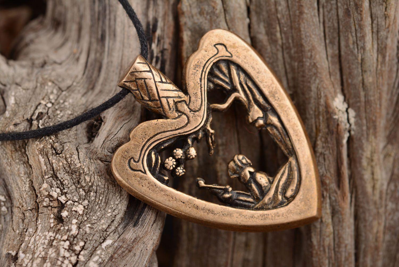 Bronze Anhänger Herz foto 1