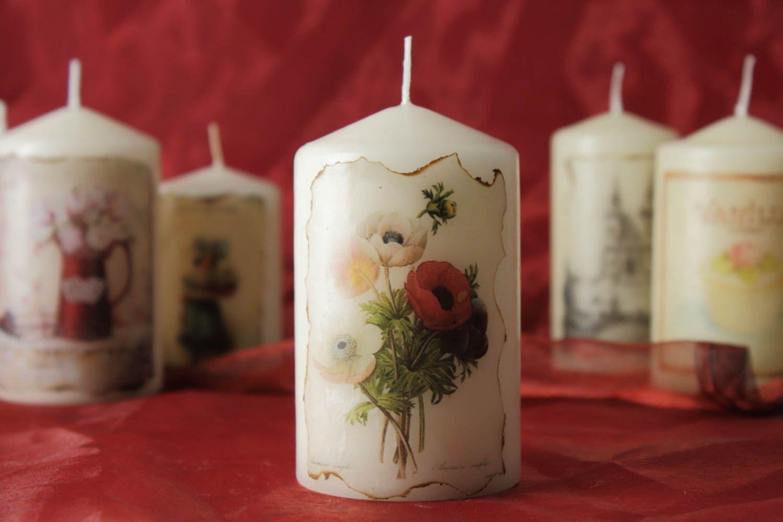 Декупаж свечи сделанной своими руками 13