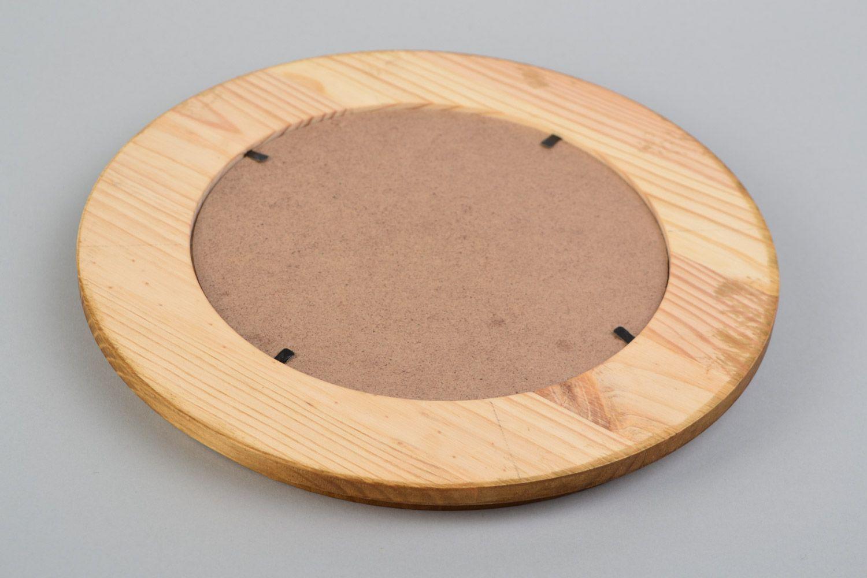 MADEHEART > Marco de fotos artesanal de madera de pino redondo pequeño