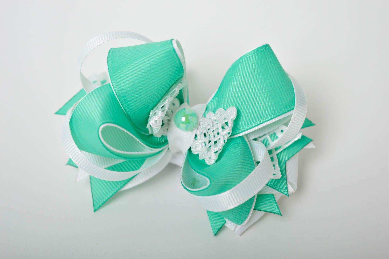 Handmade girls hair bow hair scrunchie bow hair tie designer accessories photo 2