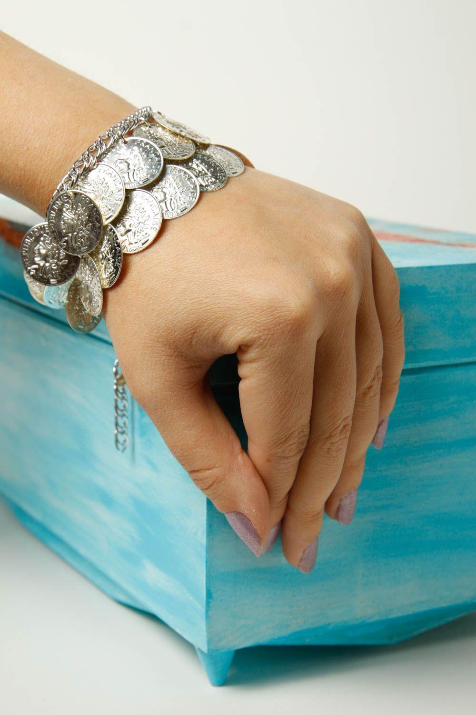 Metal bracelet handmade coin bracelet stylish jewelry fashion bracelet photo 1