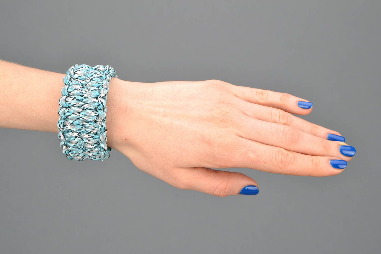 Blue woven bracelet photo 1
