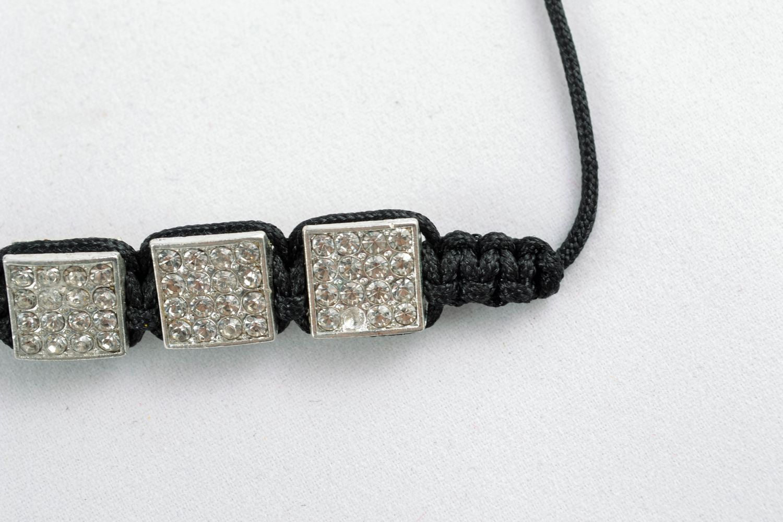 Designer bracelet with square beads photo 4