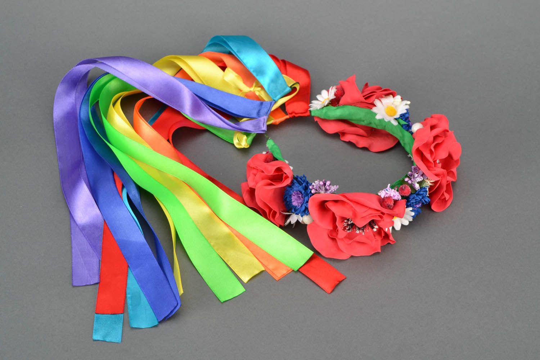 Head wreath in Ukrainian style photo 1
