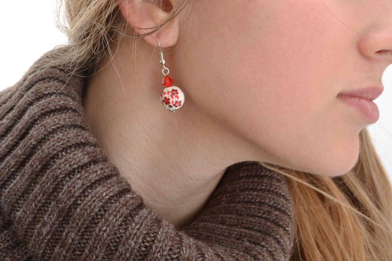 Homemade beaded earrings photo 5