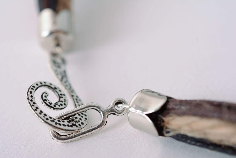 Waxed cord necklace Electro photo 5