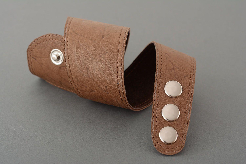 Leather bracelet unisex photo 4