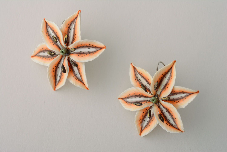 Handmade floral earrings photo 4