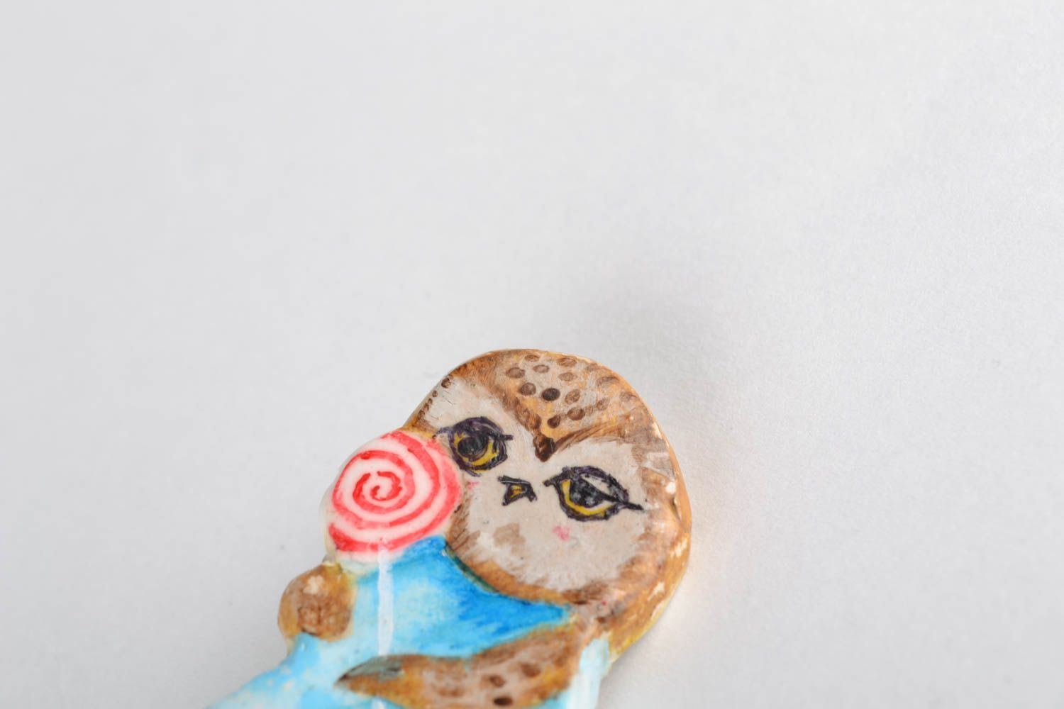 Women's polymer clay brooch photo 5
