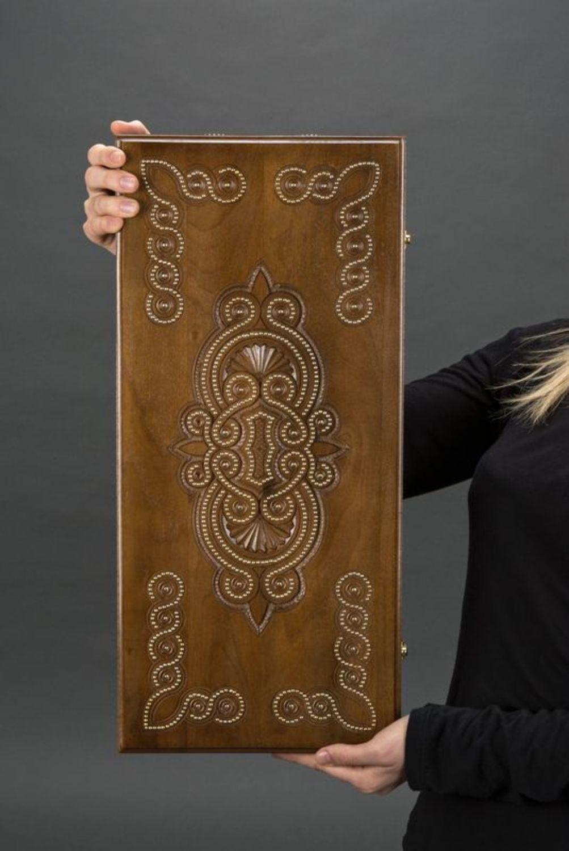 Wooden backgammon photo 2