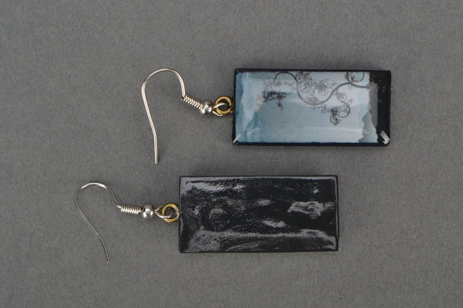 Rectangular earrings The Tree of Knowledge photo 4