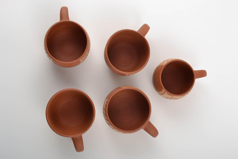 Madeheart juego de vajilla tazas originales decoradas de - Tazas decoradas a mano ...