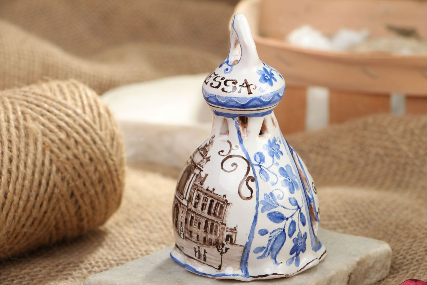 Small ceramic bell photo 5
