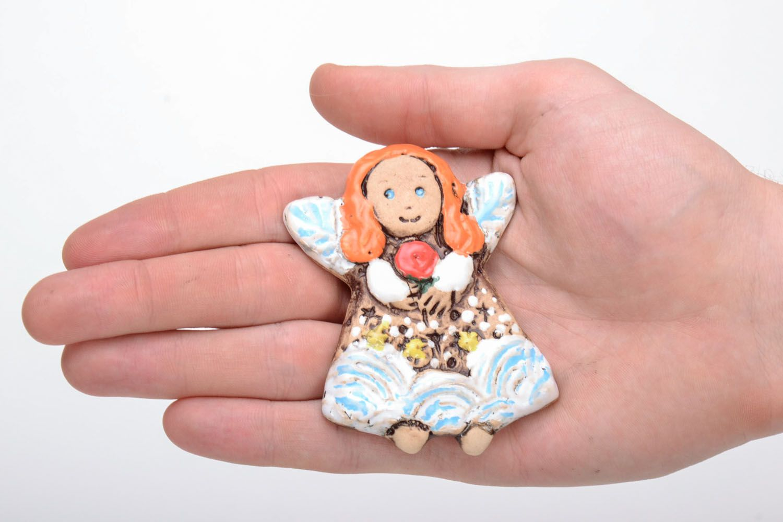 Ceramic fridge magnet Fairy photo 5
