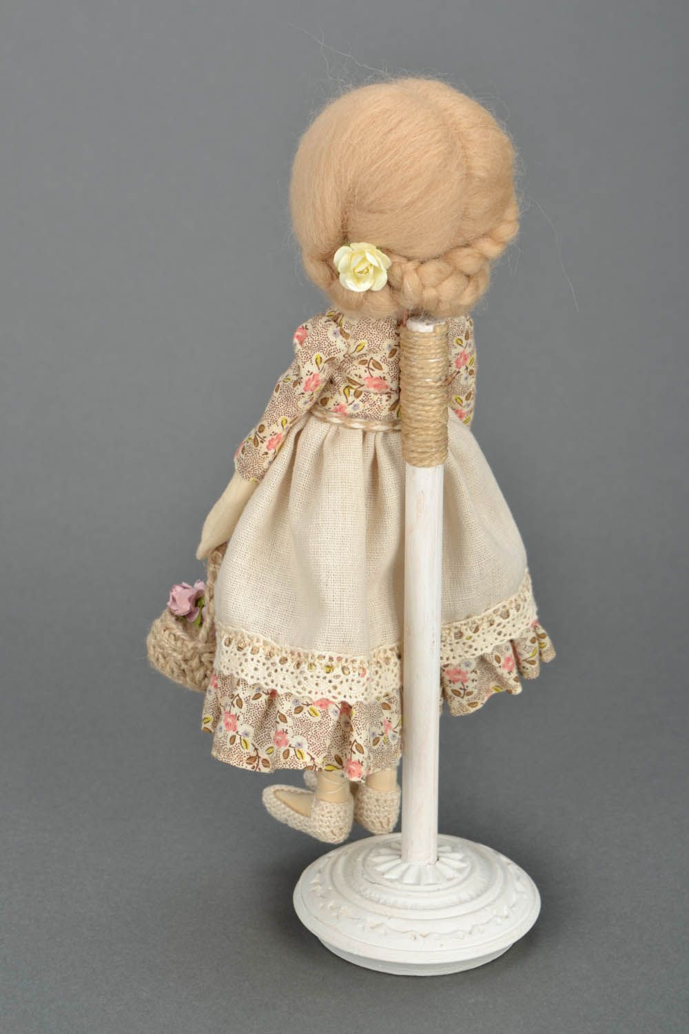 Design soft doll Girl with a Basket photo 4