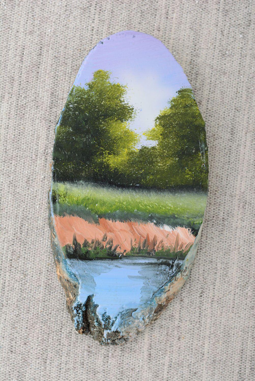 Homemade fridge magnet On the River photo 4