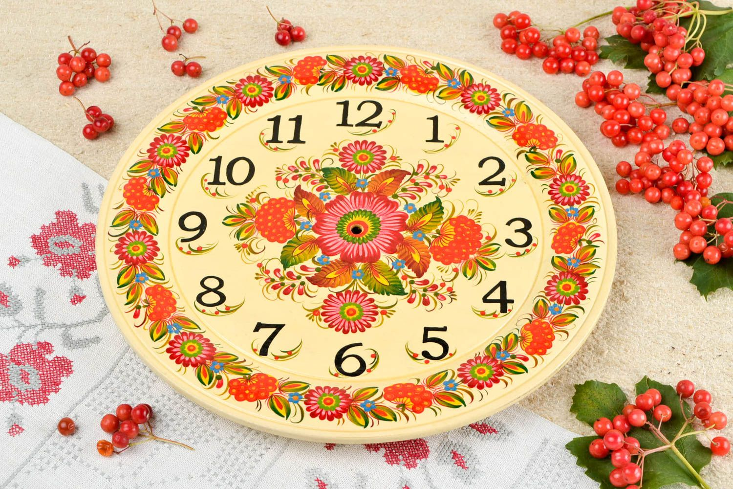 MADEHEART > Handmade wooden blank clock face wood craft art supplies ...