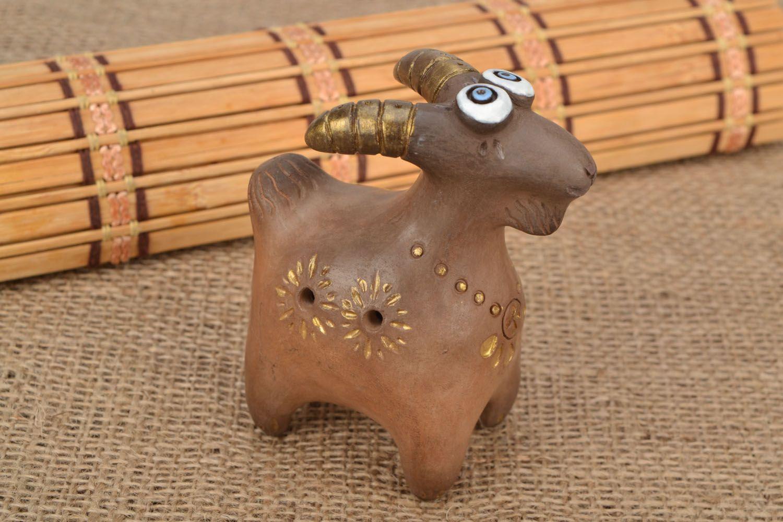 Clay whistle Goat photo 1