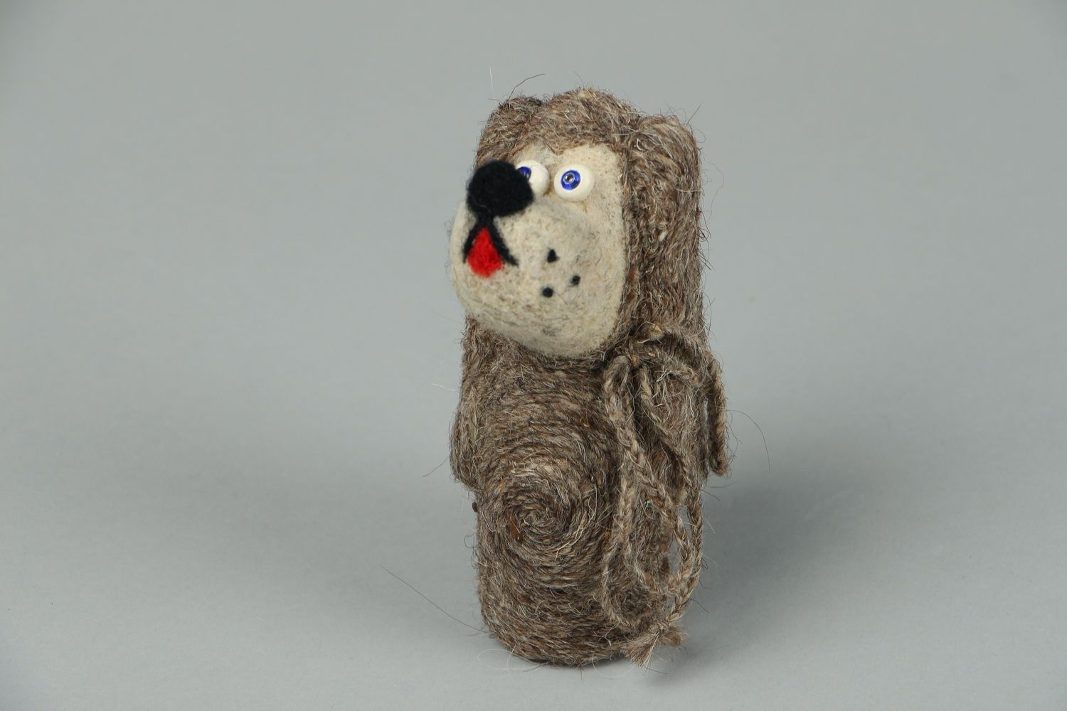 Toy made of felted wool Lady photo 1