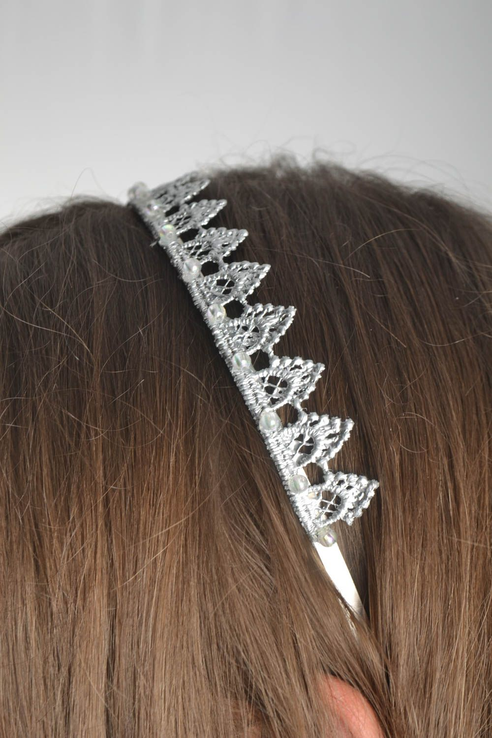 Beautiful handmade diadem hair band designer hair accessories gifts for her photo 1