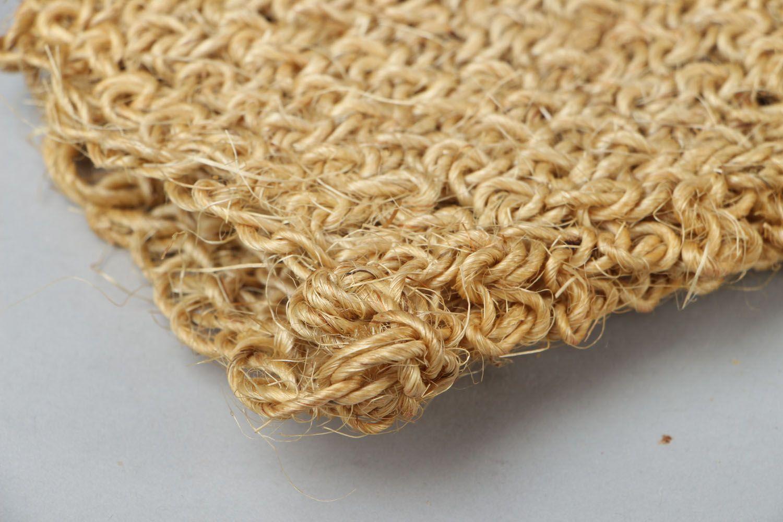 Sisal crochet body scrubber  photo 3