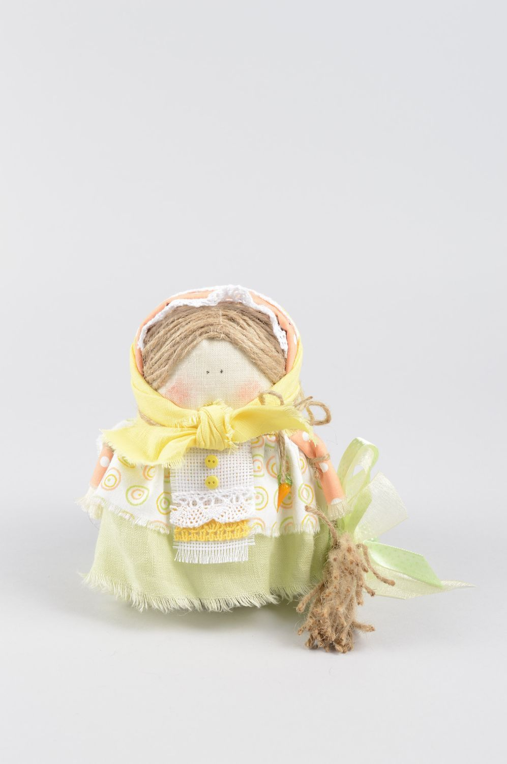 Handmade doll unusual doll decorative use only decor ideas unusual gift for baby photo 1