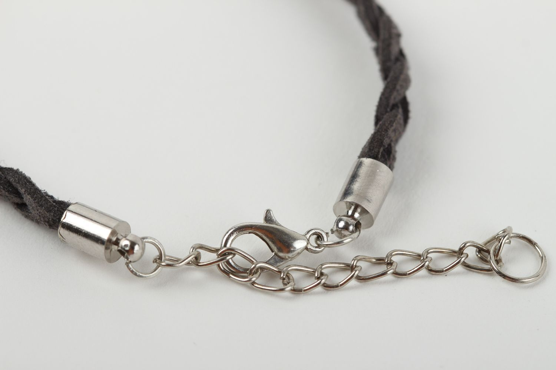 Handmade botanical jewelry stylish woven bracelet unusual wrist jewelry photo 5