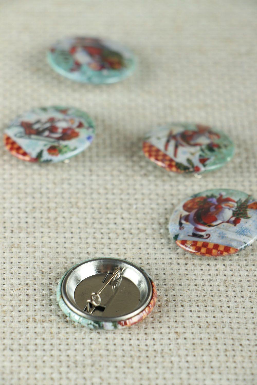 Set of Christmas badges photo 3