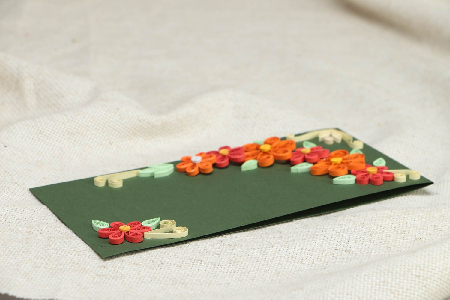 Handmade quilling greeting card photo 3