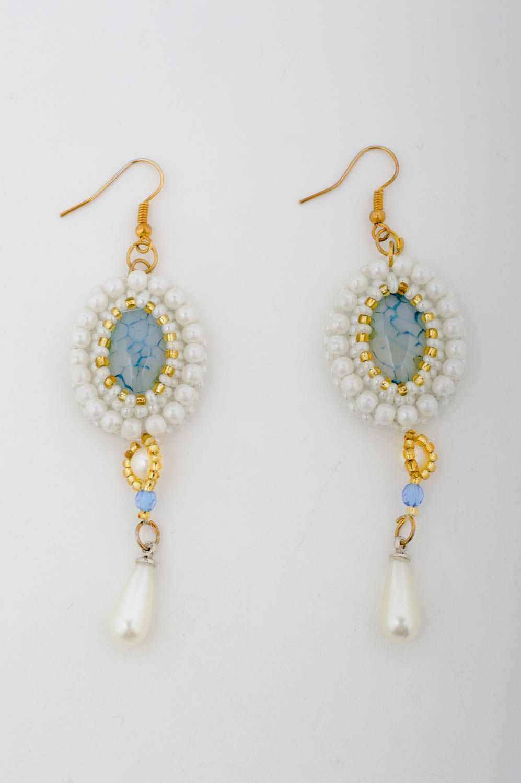 dangle earrings Handmade earrings unusual earrings stone earrings unusual gift for girl - MADEheart.com