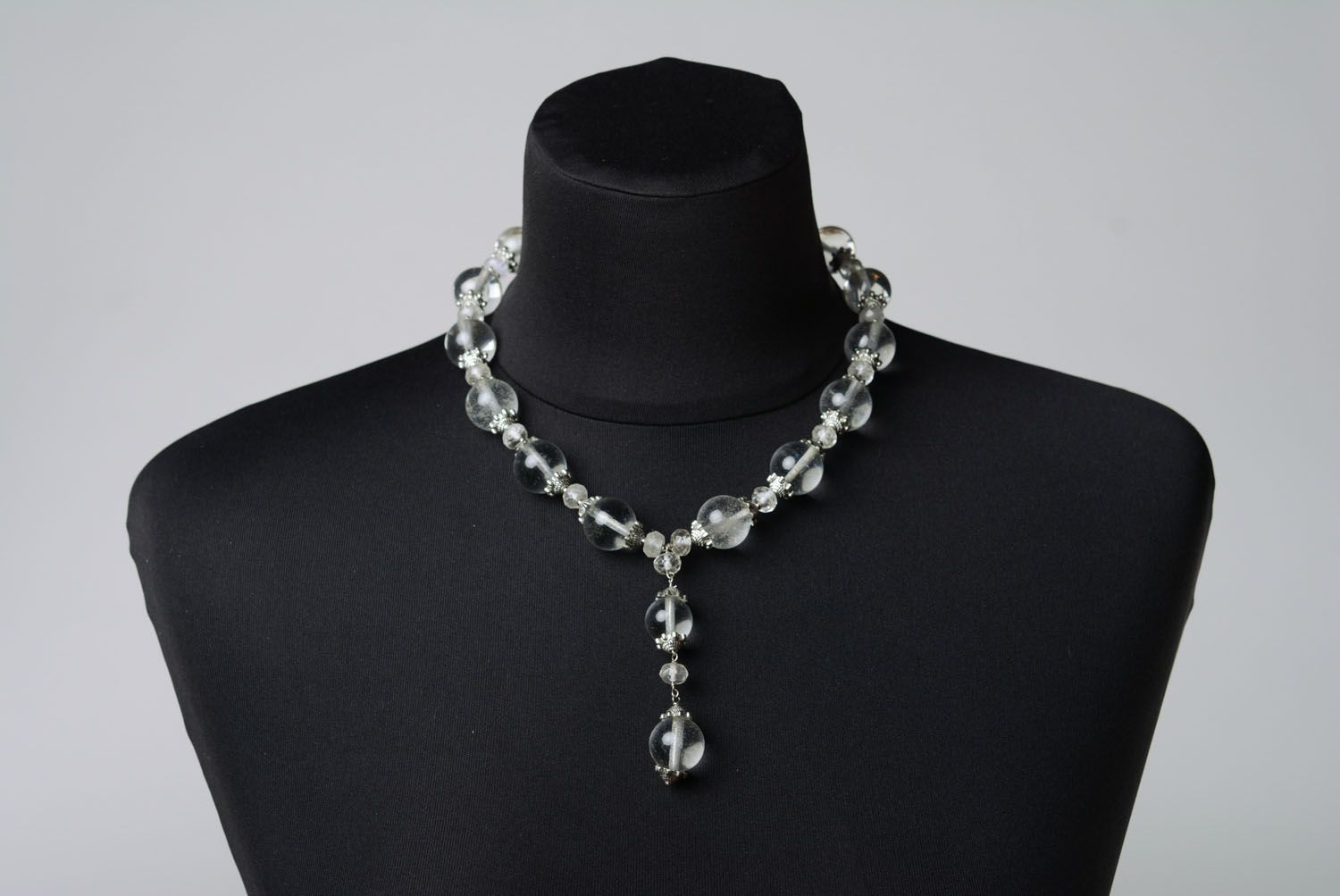 Author's necklace made of rock crystal photo 2