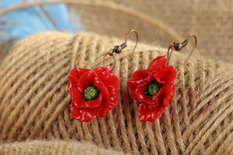 Earrings Poppies photo 4