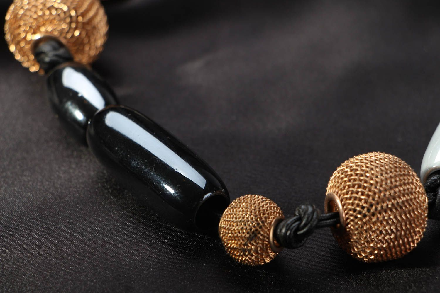 Necklace on leather cord photo 3